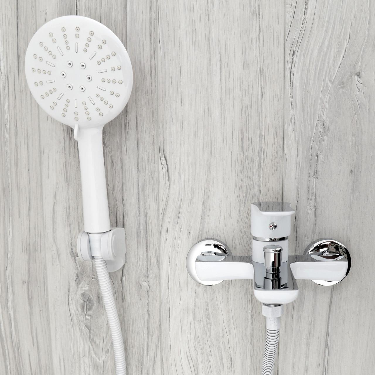 Душовий гарнітур REA SKY WHITE для ванни настінний білий