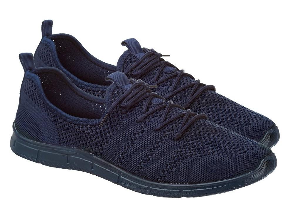 Мужские легкие летние кроссовки из синего текстиля GIPANIS 45 р. 30 см (1198877294)
