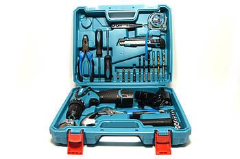 Аккумуляторный шуруповерт MAKITA DF330DWEи набор инструментов в кейсе (Шуруповерт Макита)