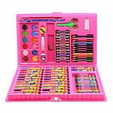 Набор для рисования и творчества в чемоданчике 86 предметов, подарок для ребенка, набор художника, фото 4