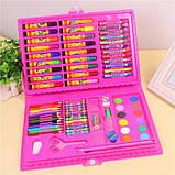 Набор для рисования и творчества в чемоданчике 86 предметов, подарок для ребенка, набор художника, фото 5