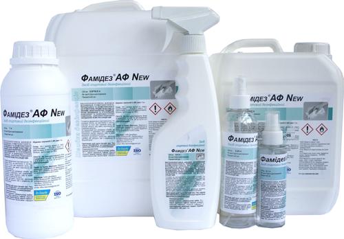Фамідез® АФ ПУР - готовий до використання безальдегідний поліспиртовий розчин для швидкої дезінфекції, 0,1 л