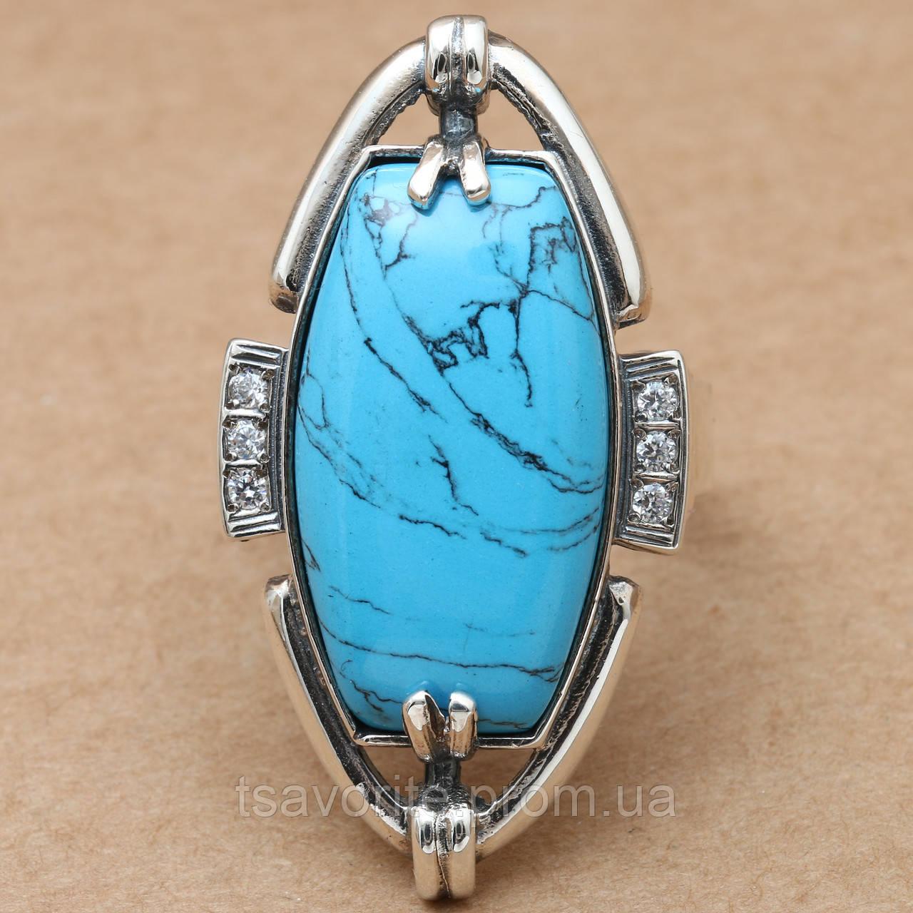Серебряное кольцо 61КЮ