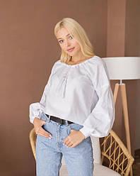 Женская вышиванка Звезда белого цвета размер XS - 2XL
