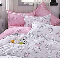 Комплект постельного белья евро с простынью на резинке на матрас 160х200см, бязь 100% хлопок