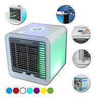Портативный кондиционер Arctic Air вентилятор, ночник 7 цветов, охладитель, работа от USB машины PowerBank