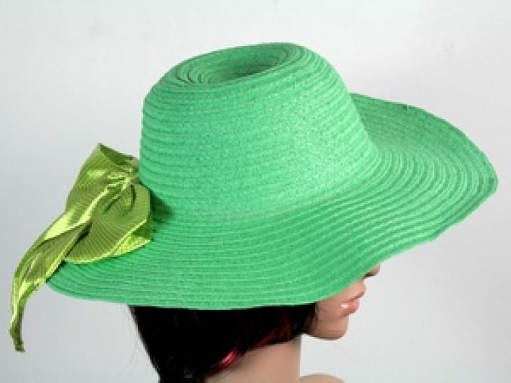 Соломенная шляпа Инегал 40 см зеленая 277524-07-СТ
