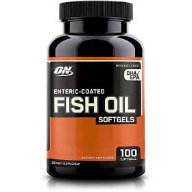 Рыбий жир Optimum Nutrition Fish Oil 100 sgels США
