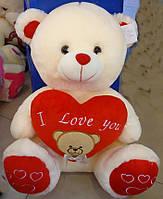 Медведь с сердцем (музыкальный)  , мягкая игрушка