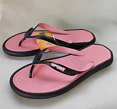 Женские сланцы шлепки вьетнамки шлепанцы пляжные розовые 36р 22см