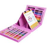 Набор для рисования с мольбертом Just Amazing в чемоданчике (208 предметов) Розовый, фото 3
