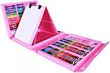 Набор для рисования с мольбертом Just Amazing в чемоданчике (208 предметов) Розовый, фото 4