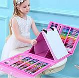 Набор для рисования с мольбертом Just Amazing в чемоданчике (208 предметов) Розовый, фото 2