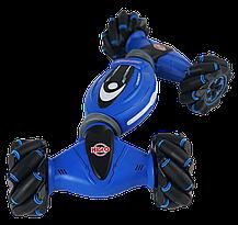 Машинка с управлением жестом руки + пульт д/y Double-Sided Stunt Car Синяя, фото 3