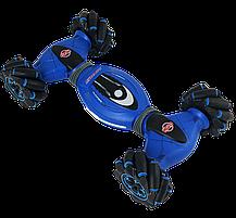 Машинка с управлением жестом руки + пульт д/y Double-Sided Stunt Car Синяя, фото 2