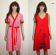 Женский комплект халат и ночная для беременных красный 44-54р., фото 1