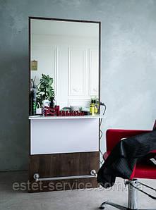 Парикмахерское место для мастера М424 с подставкой для ног и большим зеркалом