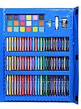 Набор для рисования с мольбертом в чемоданчике Art Set голубой (208 предметов) Синий, фото 6