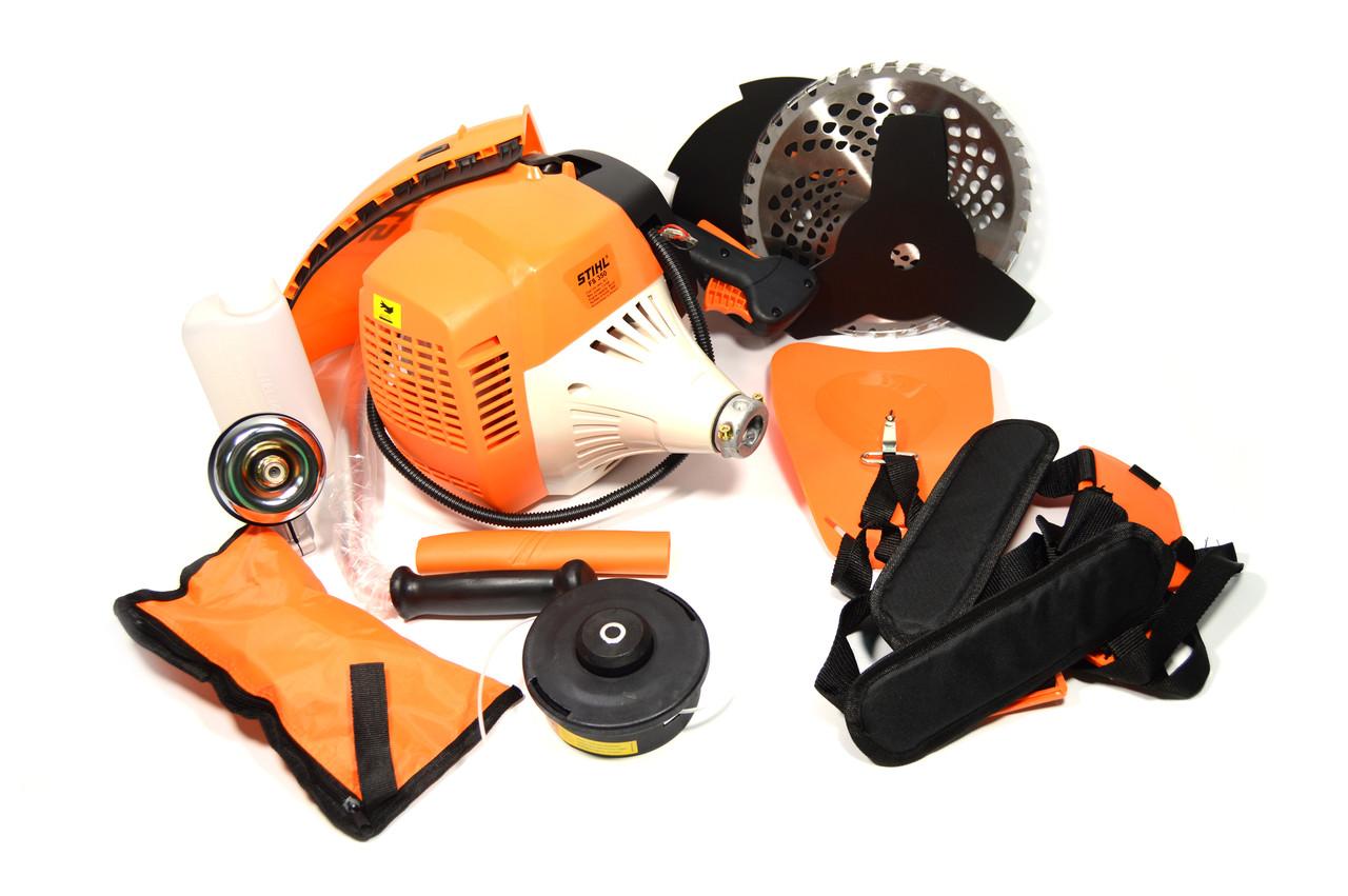 Мотокоса бензиновая FS 350 Улучшенная ( Бензокоса Штиль ФС 350) 4 кВт/5.5 л.с (широкая комплектация)