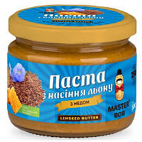 Паста из семечек льна Master Bob - Linseed Butter с медом (200 грамм)
