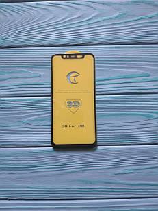 Захисне скло 6D для Xiaomi Mi 8 Full Glue Чорне