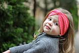 """Повязочка детская на девочку """"Чалма"""" коралловая котоновая повязка тюрбан размеры от младенцев и больше, фото 2"""