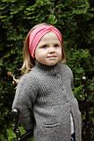 """Повязочка детская на девочку """"Чалма"""" коралловая котоновая повязка тюрбан размеры от младенцев и больше, фото 5"""