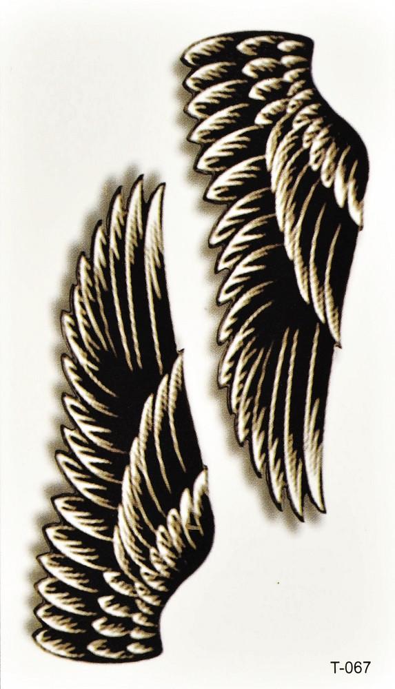 Временная тату Крылья (T-067, 10,5x6 см)