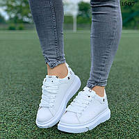 Женские кроссовки кеды белые Жіночі кросівки