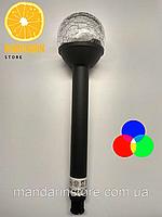 Газонні світильник на сонячній батареї RGB CAB118, фото 1