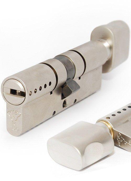 Цилиндр MUL-T-LOCK INTERACTIVE + 66 мм (33х33Т) ключ-тумблер матовый хром