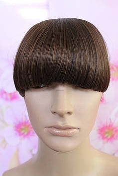Челка на заколках искусственные волосы термоволокно русый прямая