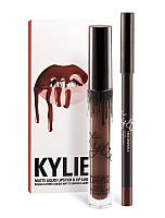 Kylie Jenner Матовые помада + карандаш USA TRUE BROWN K