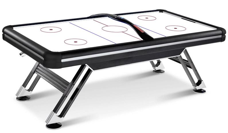 Ігровий стіл аерохокей Titan Air Hockey - 214 x 120 x 81 см, з LED підсвічуванням ігрового поля