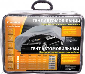 Тент автомобильный с подкладкой, размер М, чехол на авто, тент защитный, водоотталкивающий, LA140104