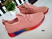 Женские кроссовки летние текстиль на мульти подошве, фото 1