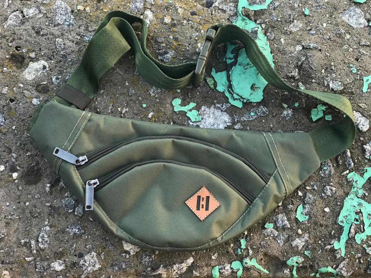 Мужская маленькая сумка на плече (хаки)