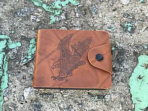 Мужской бумажник из искусственной кожи - Орел