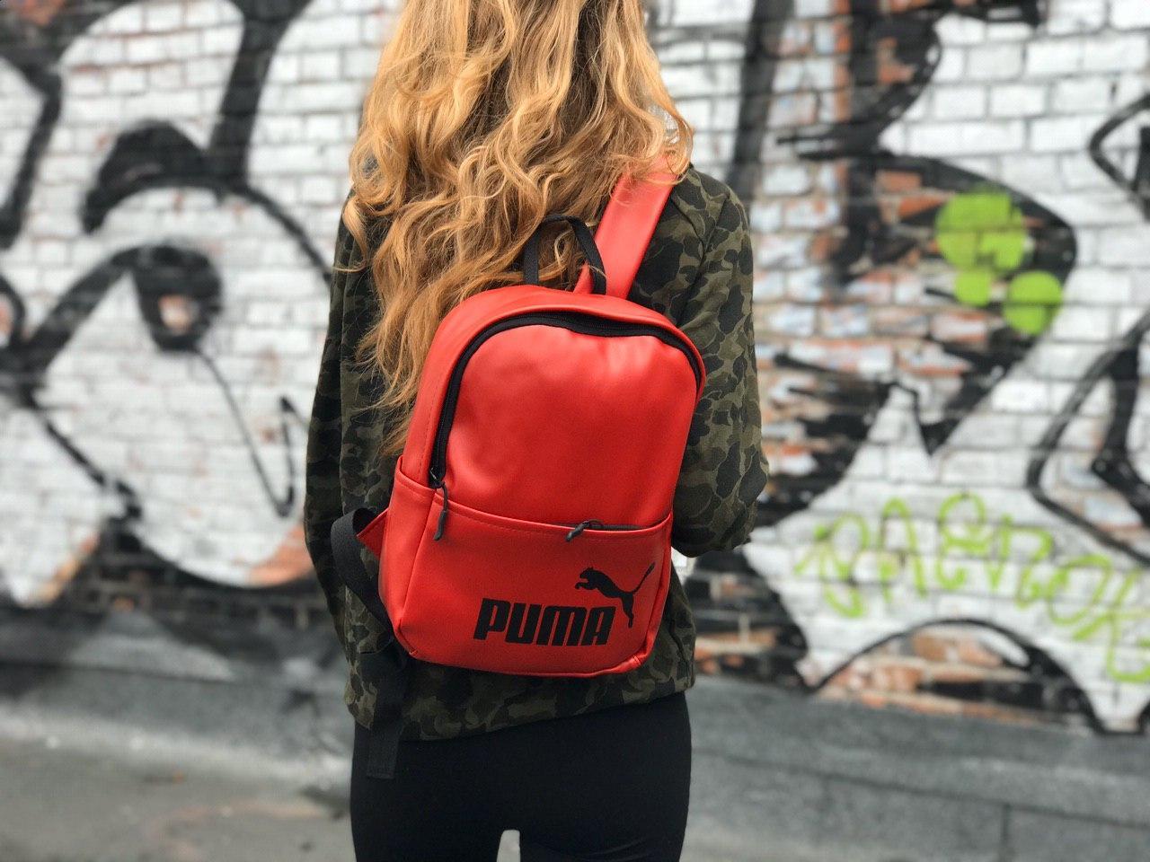 Женский спортивный красный рюкзак Puma