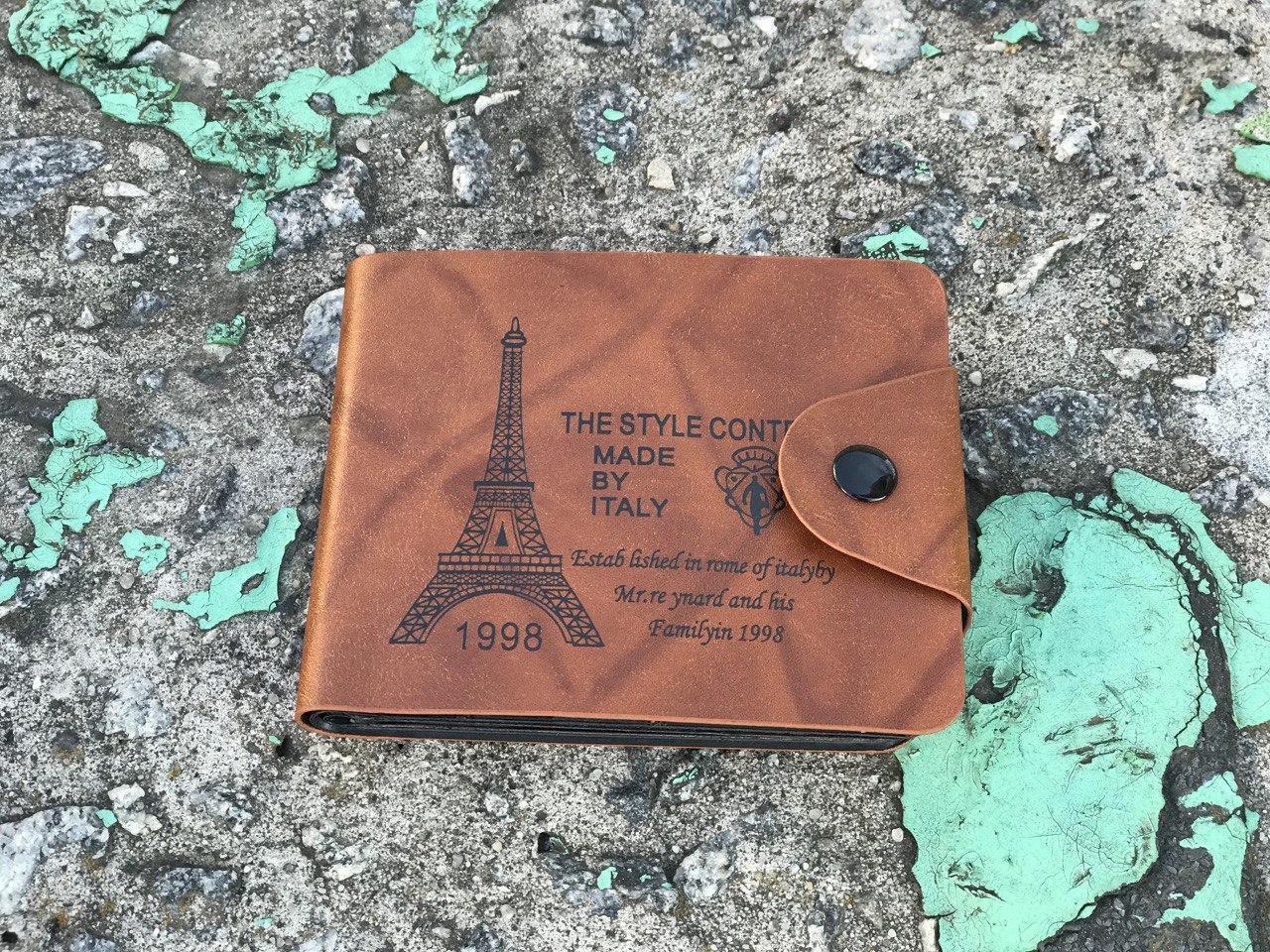 Мужской бумажник из кож зама - Париж