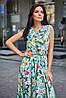 Длинное летнее цветочное шелковое платье в пол (Флори jd), фото 4