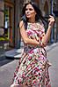 Длинное летнее цветочное шелковое платье в пол (Флори jd), фото 6