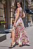 Длинное летнее цветочное шелковое платье в пол (Флори jd), фото 5