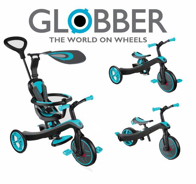 Велосипеды-беговелы Globber Explorer Trike 4in1, Go Bike, Go Bike Air (от 10 мес. до 6 лет)