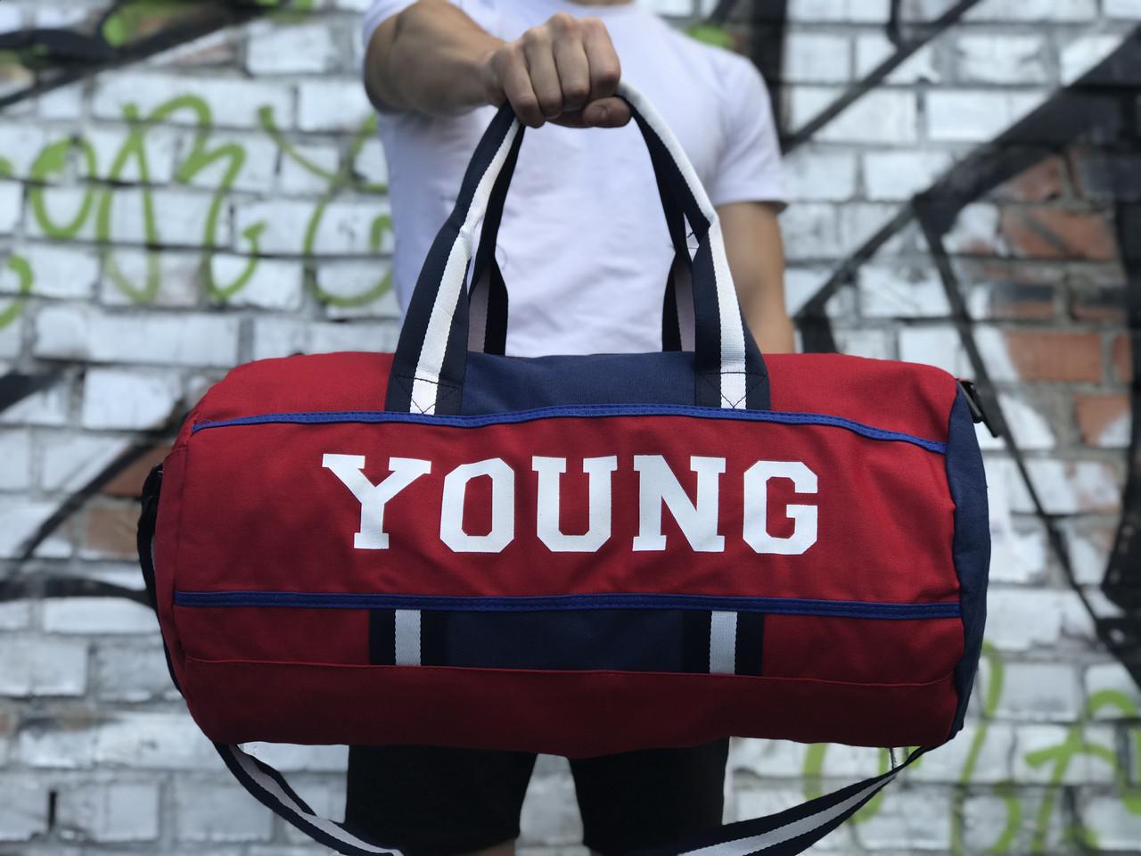 Мужская спортивная сумка Young, красная с синим