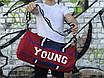Мужская спортивная сумка Young, красная с синим, фото 4
