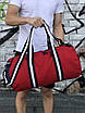 Мужская спортивная сумка Young, красная с синим, фото 5