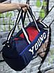 Мужская спортивная сумка Young, синяя с красным, фото 2