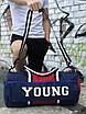 Мужская спортивная сумка Young, синяя с красным, фото 3