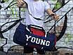 Мужская спортивная сумка Young, синяя с красным, фото 4